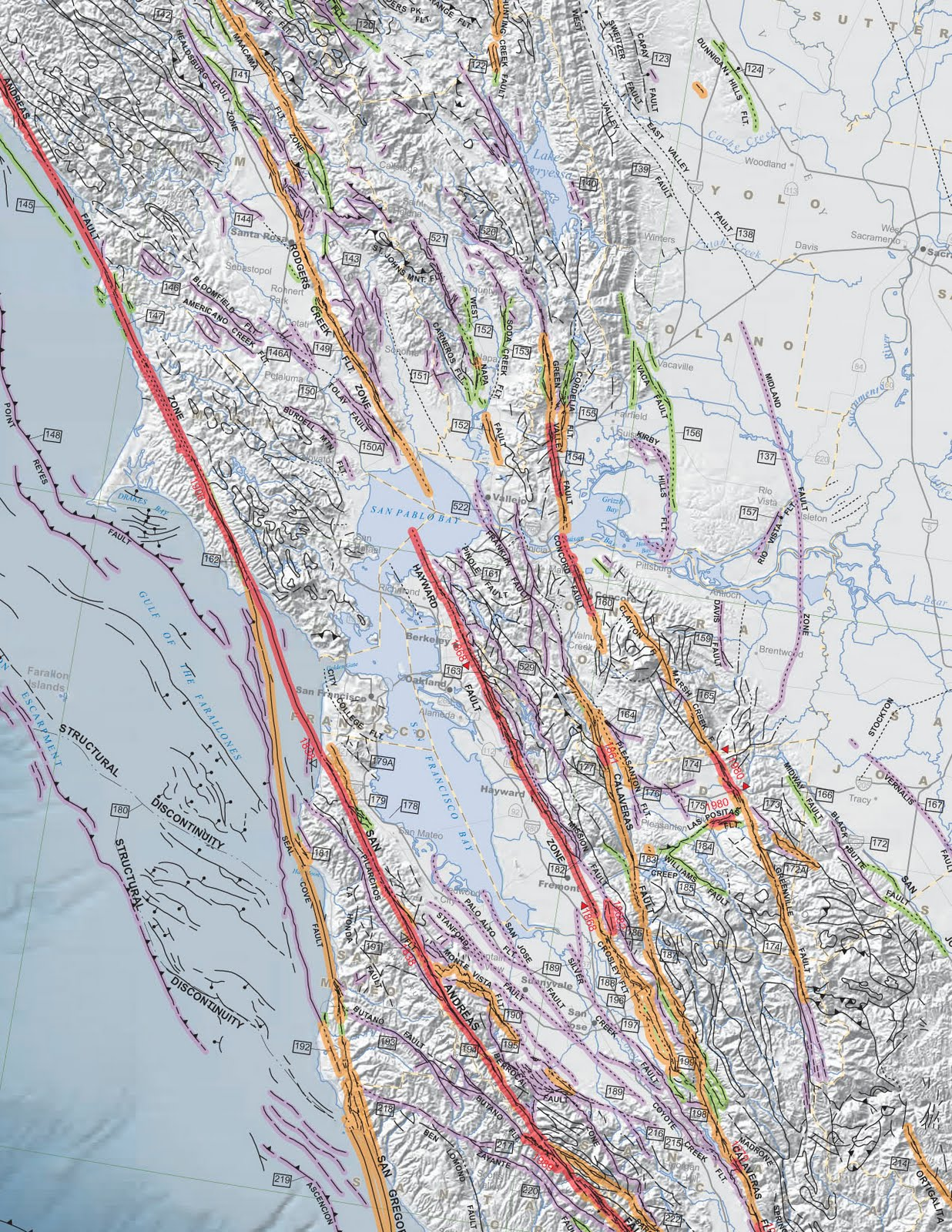 Oakland And Its Earthquakes Danryanus - Us fault map